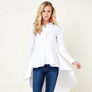 English Factory High and Low White shirt